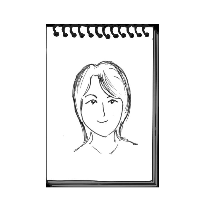山里佐和子似顔絵